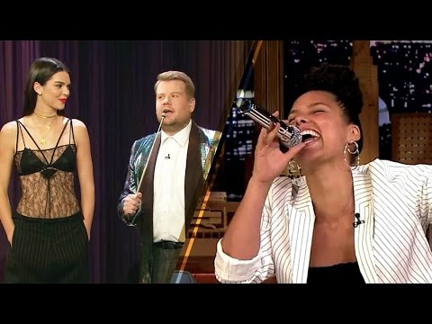 Kendall Jenner's IMPRESSIVE Hidden Talent, Alicia Keys' Adele Impression on Tonight & Late Late Show