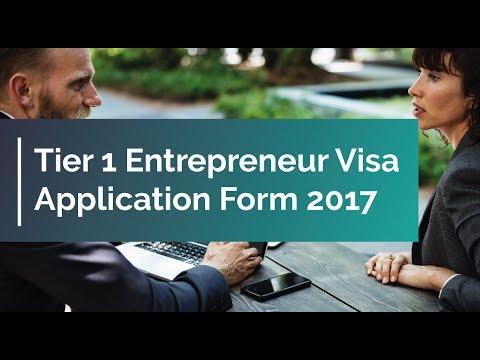 Tier 1 Entrepreneur Visa Application Form 2017