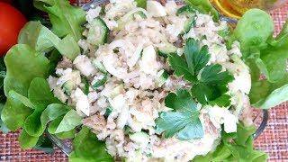Салат из тунца Очень Легкий и Вкусный