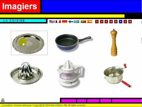 Fran ais langue trang re vocabulaire la cuisine youtube - Photos d ustensiles de cuisine ...