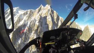 CMBH Helicopter flying over Mont Blanc - Go Pro Hero 3