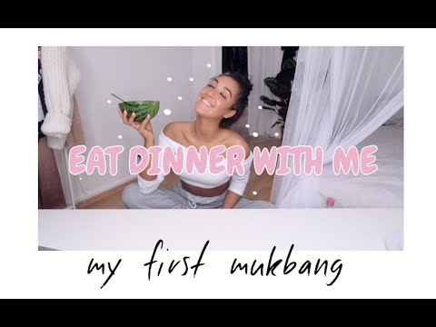 my first mukbang ♡ eat dinner with me