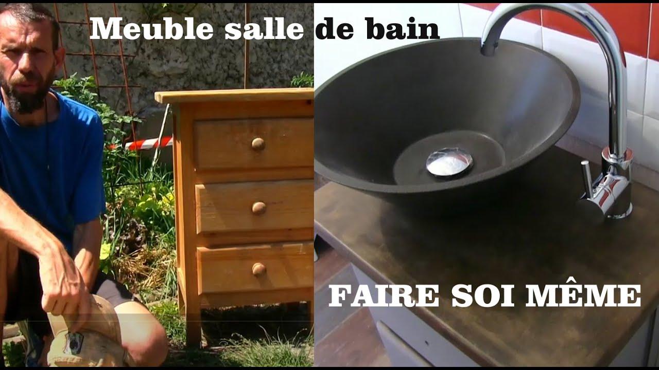 Meuble Salle De Bain A Faire Soi Meme Youtube