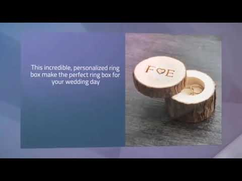 Personalized Wooden Ring Box For Wedding