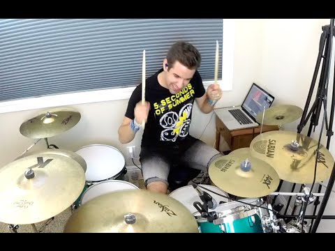 5 Seconds of Summer  Jet Black Heart NEW SONG 2015  Drum   Studio Quality HD