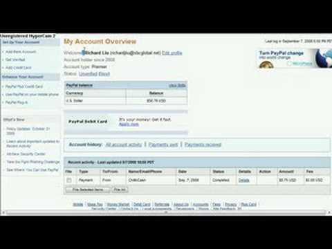 Richard Liu's Paypal Account