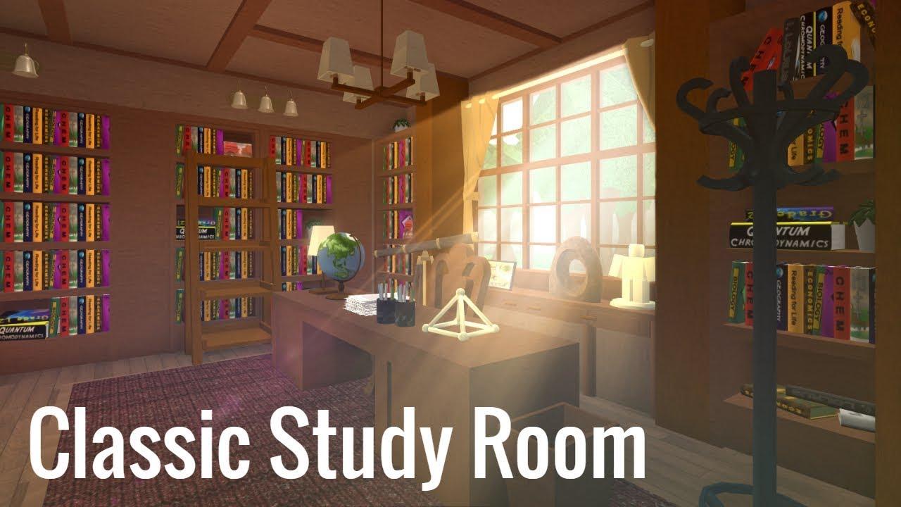 Roblox Bloxburg Classic Study Room Youtube