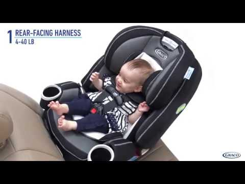 How to use Graco 4Ever DLX 4 in 1 Car Seat  Infant to Toddler Car Seat, with 10 Years of Use