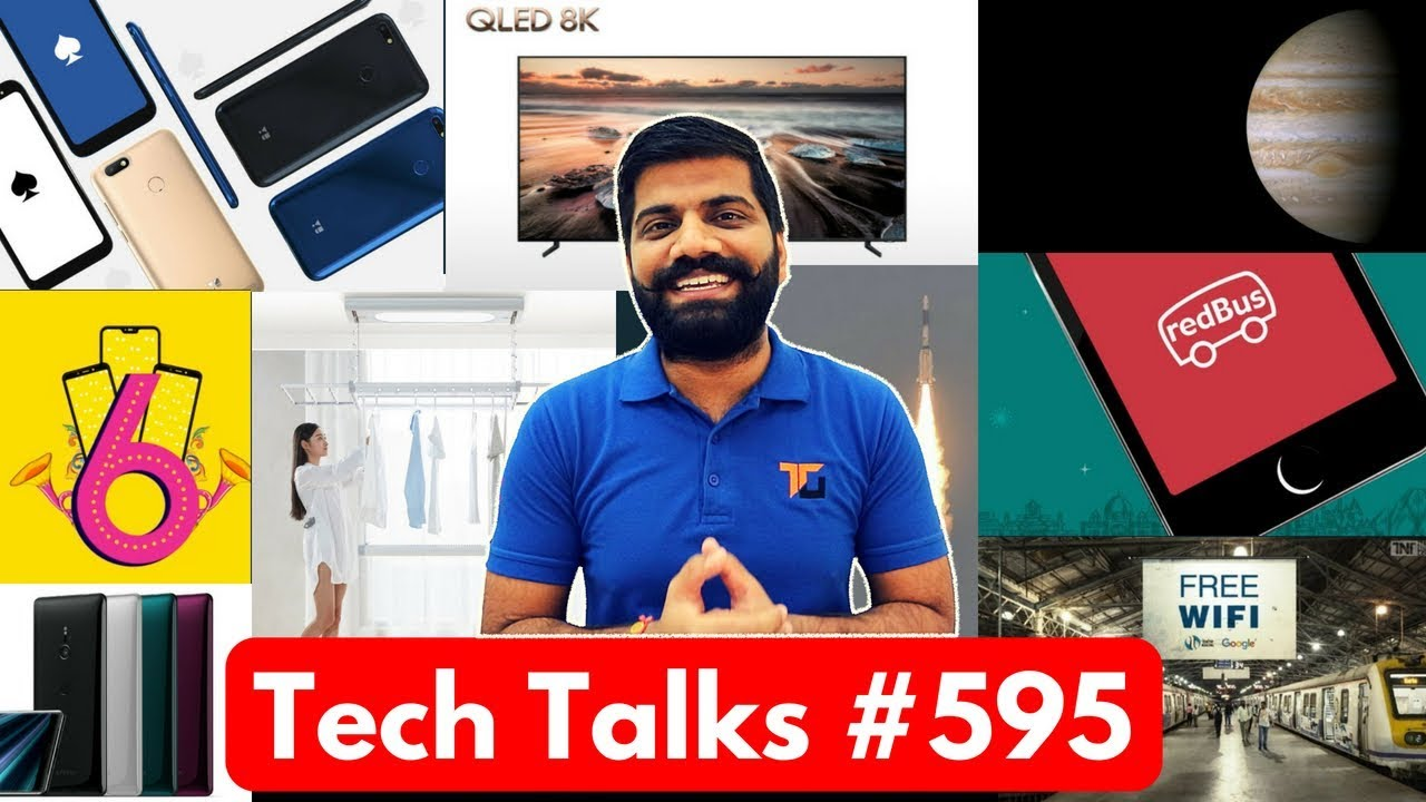 Tech Talks #595 - Redmi 6 Pro, Flying Uber India, Yu ACE, 151MP Camera, Samsung 8K TV, WiFi Railway