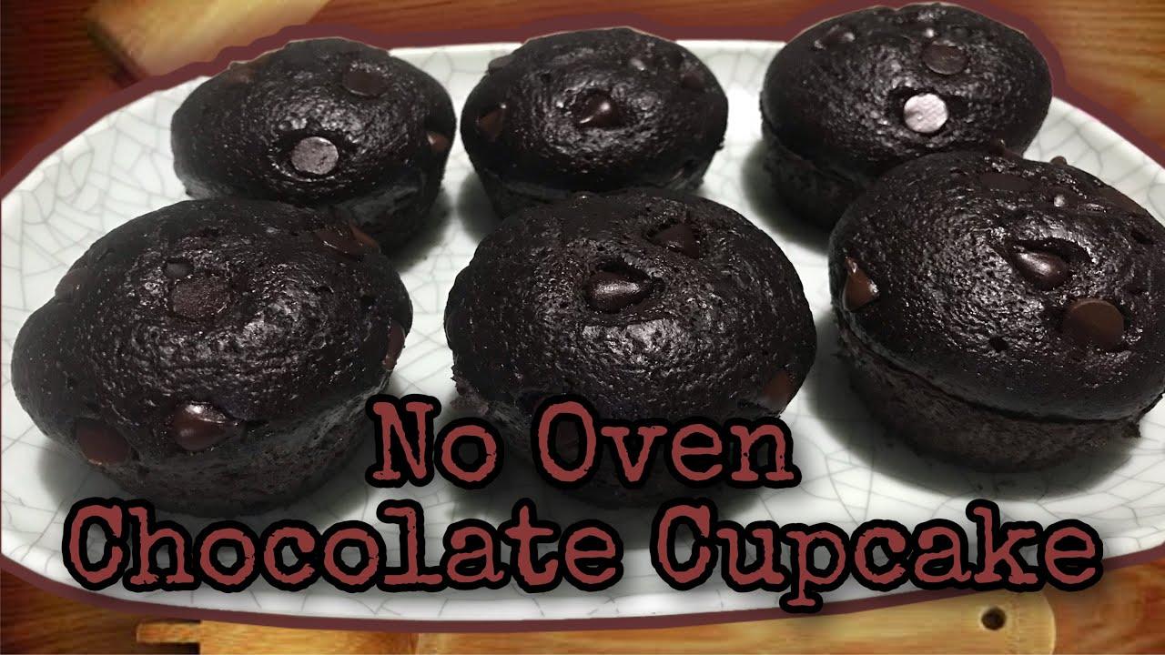 CHOCOLATE CUPCAKE | NO OVEN | NO BAKE | HOMEMADE | EASY ...