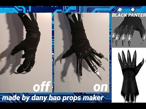 DANY BAO -  gloves costume black panther real action cap america civil war