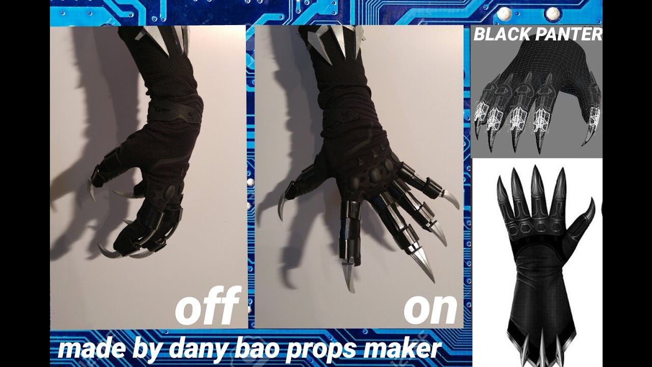 Dany Bao Gloves Costume Black Panther Real Action Cap America