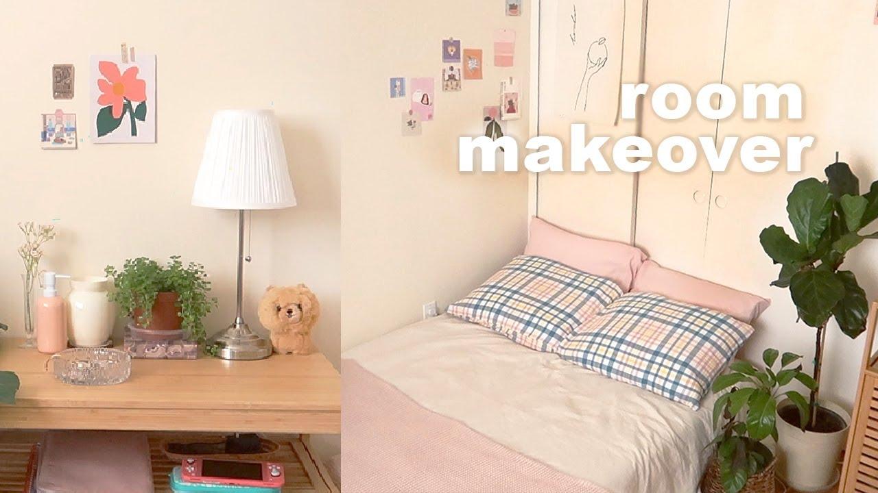 summer room makeover 🌤 🛏 soft & cute, minimal, korean inspired aesthetic