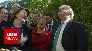 Boris Johnson talks wildlife and obesity in New Zealand  BBC News