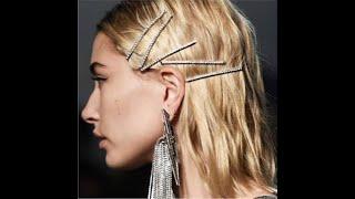 1 шт блестящая заколка для волос кристаллы стразы буквы заколки женская девушка корейский стиль 23