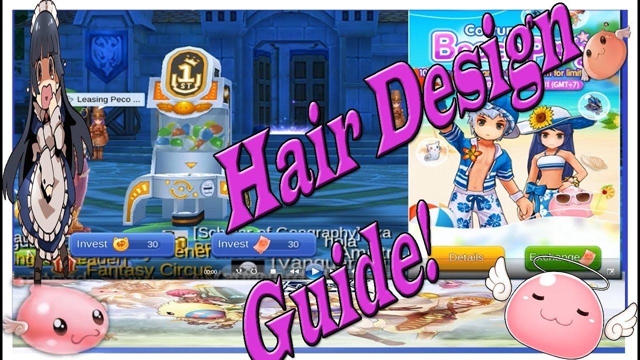 Ragnarok Eternal Love Mobile Hair Design Guide 1 2 3 And