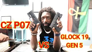 GLOCK 19 GEN 5 VS CZ P07 PISTOL REVIEW!!!!