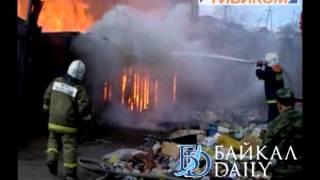 В Улан Удэ сгорело семь кладовок