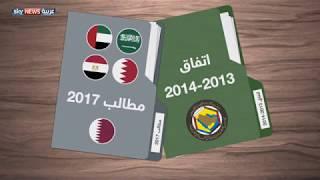 أبرز بنود الاتفاقات التي وقعت عليها قطر وتطابقها مع قائمة المطالب لمكافحة الإرهاب