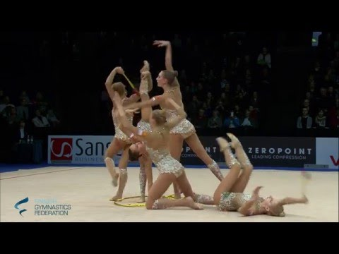 Russia Hoops And Clubs - Rhythmic Gymnastics World Cup 2016 Espoo
