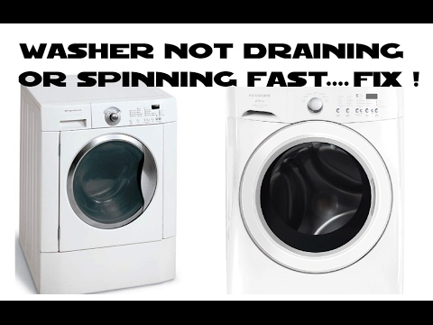 Front Load Washer Not Draining Or Spinning Fast Frigidaire