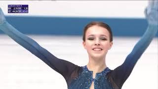 Каскад Щербаковой который вознес ее на 1 е место в КП на командном ЧМ по фигурному катанию