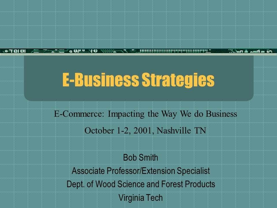 E-Business Strategies PowerPoint Presentation - YouTube