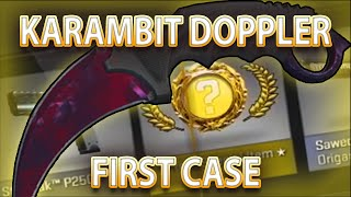 CS:GO KARAMBIT DOPPLER UNBOX FIRST CASE