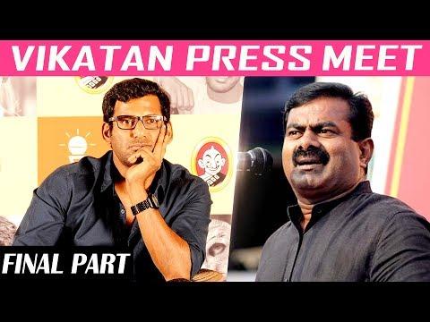நான் தெலுங்குகாரனா இருந்தா சீமானுக்கு என்ன பிரச்னை?   Vishal   Vikatan Press Meet