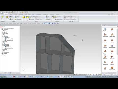 Ironcad Woodlab Cad Armoire Sous Pente Fran Ais Youtube