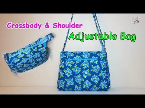DIY CROSSBODY & SHOULDER BAG | DIY BAG | ZIPPER BAG BAG SEWING TUTORIAL | Coudre un sac | Bolsa