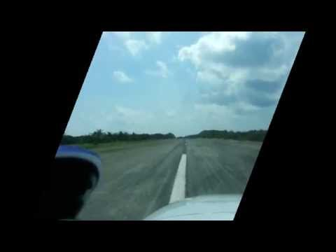 Amanpulo Airstrip landing