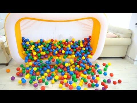 Jason pretend Play with Ball Pit Show | Color Song - Nursery Rhymes Songs