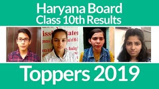 HBSE 10th Results 2019 Declared: Toppers Interview, Details & Marks