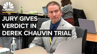 Jury verdict in Derek Chauvin murder trial — 4/20/2021