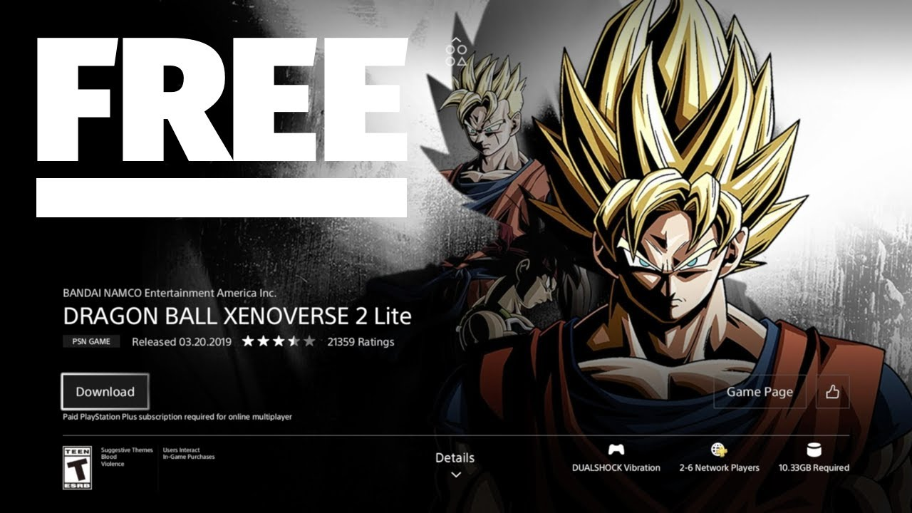 dragon ball xenoverse 2 ps4 free