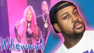 "Nicki Minaj And Tyga ""Good Form & Dip"" Live Performance REACTION Video"