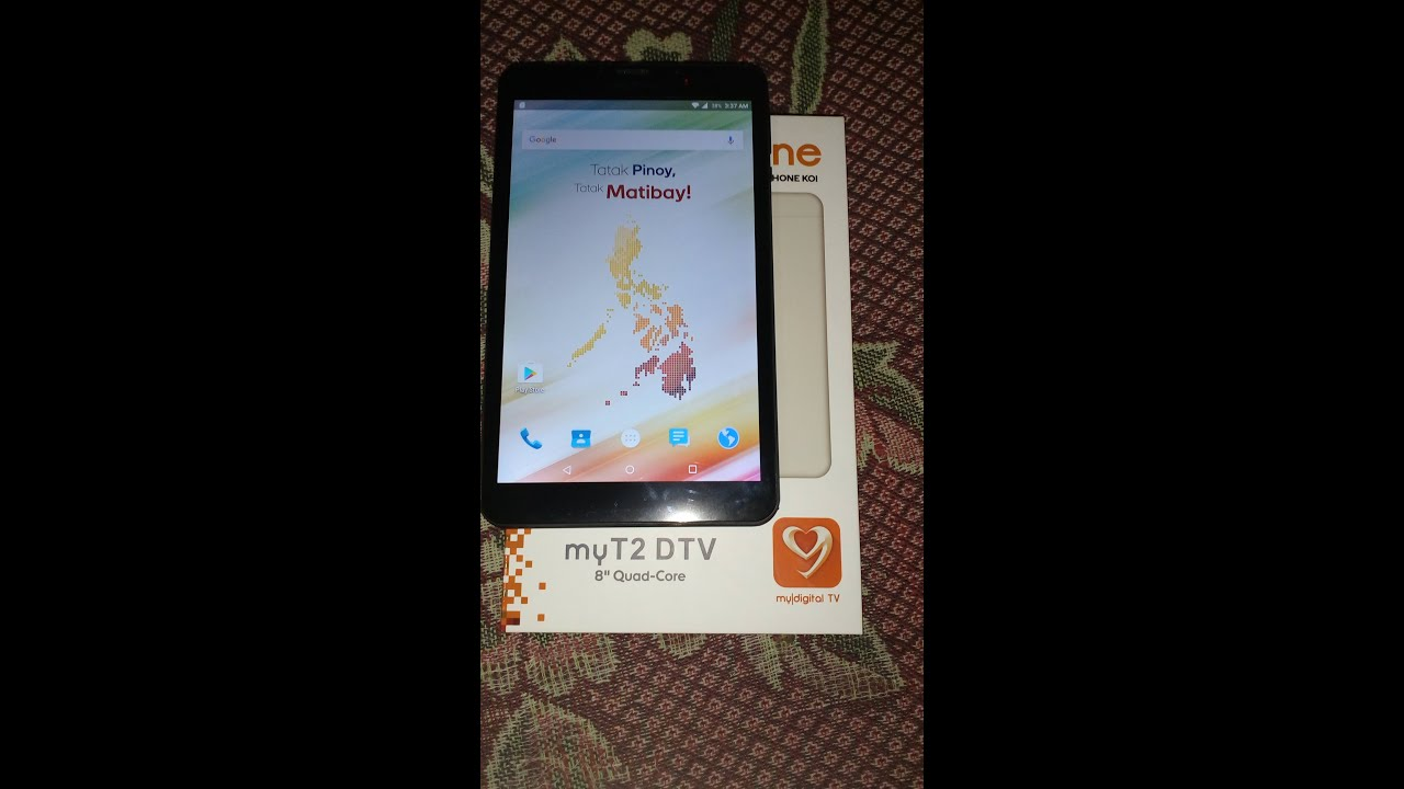 myphone MyT2 DTV unboxing and initial test