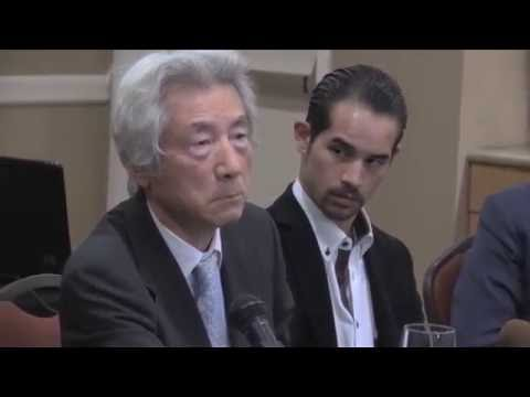Former Japanese Prime Minister Koizumi tears up in dialogue with audience about US sailors