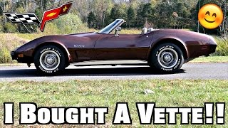 i bought a corvette