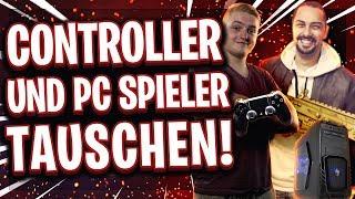 😂🎮CONTROLLER 🔄 PC TAUSCH! | Wer spielt besser auf der anderen Plattform?!