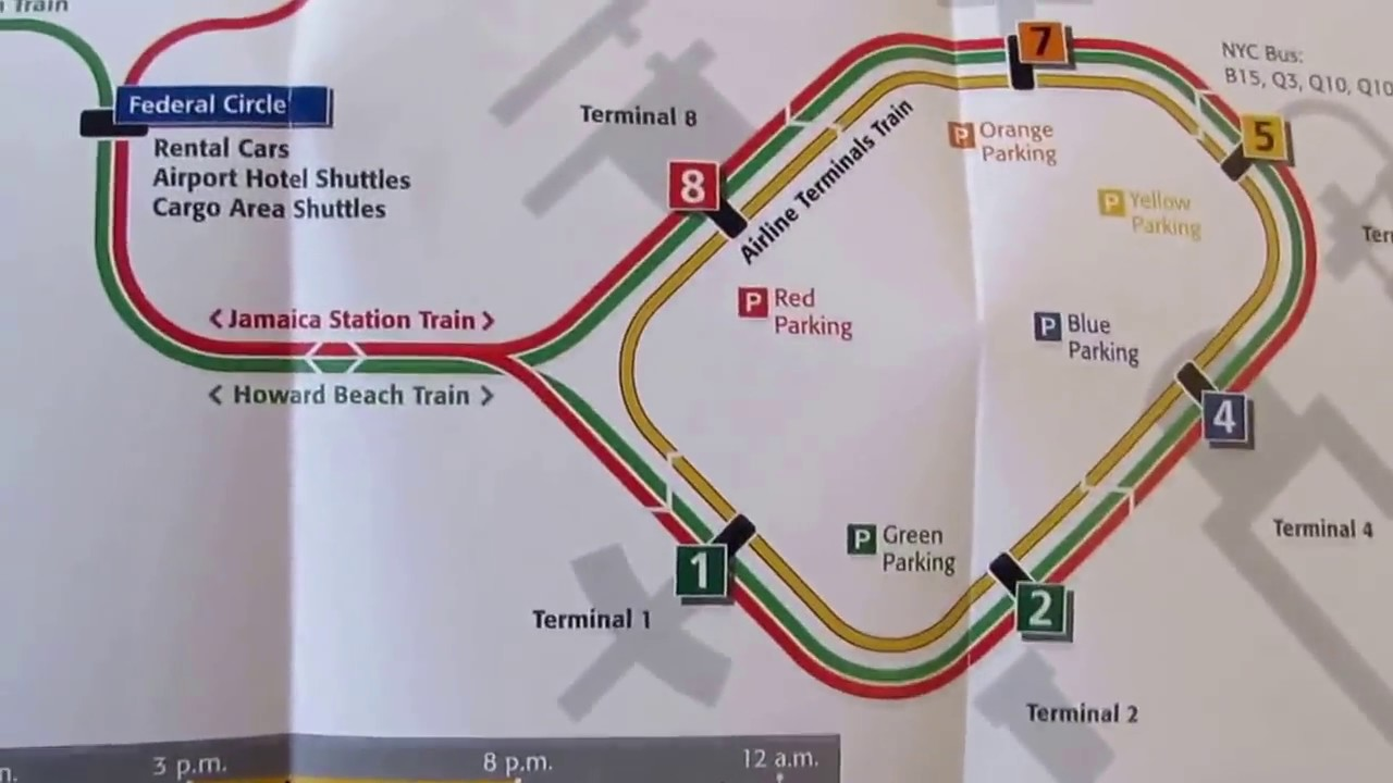How to go to Manhattan from JFK airport via Airtrain | jfk den ... Q Bus Map on