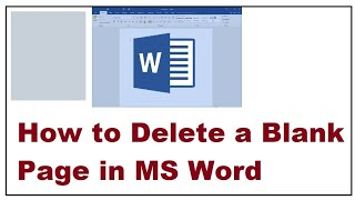 How to Delete a Blank Page in MS Word