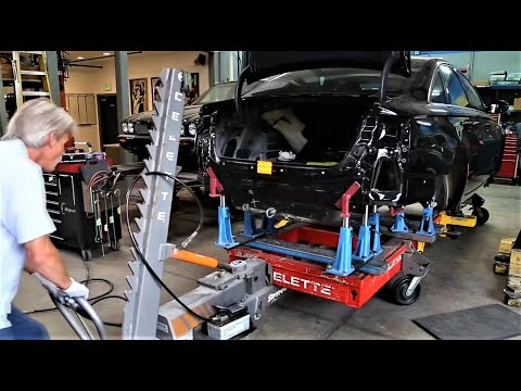 Audi Repair By Amato's Autobody On Celette Car Bench Or Frame Machine, Collision Repair