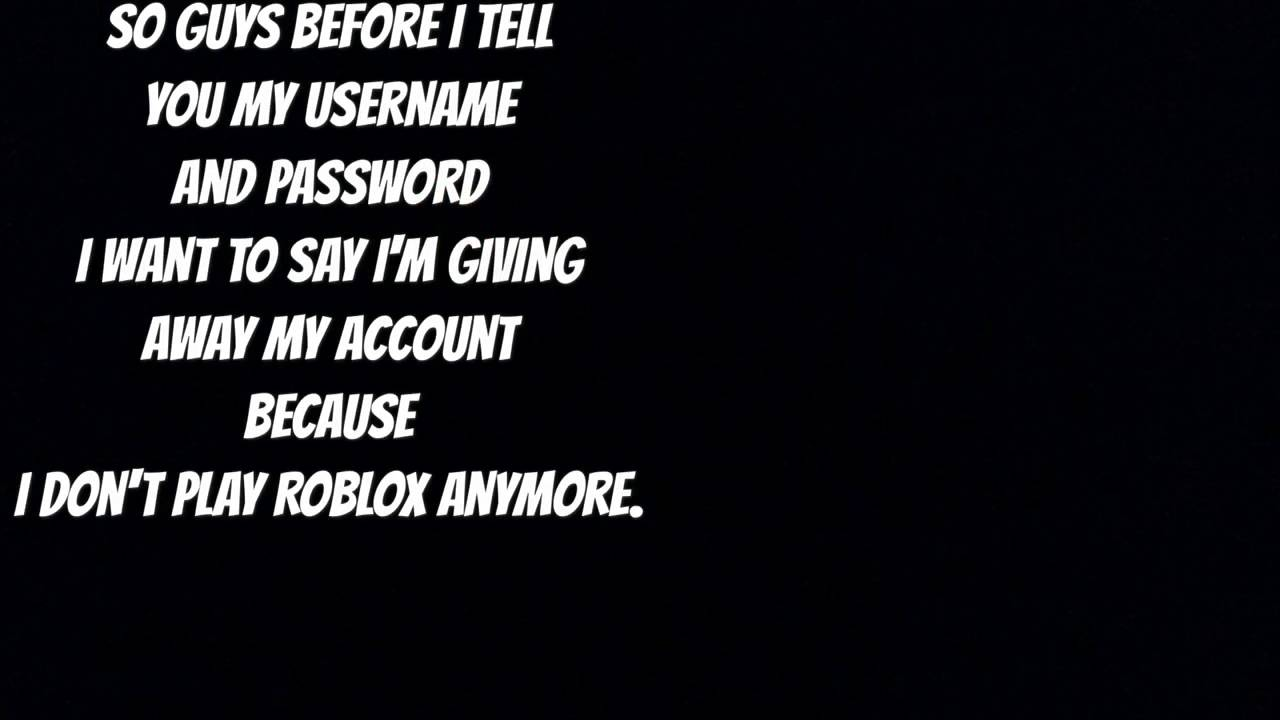 My Roblox Username And Password-WITH BC AND 500 ROBUX ...