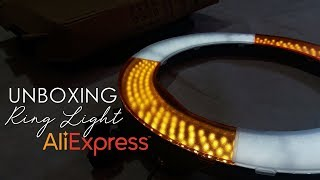 RING LIGHT DO ALIEXPRESS UNBOXING