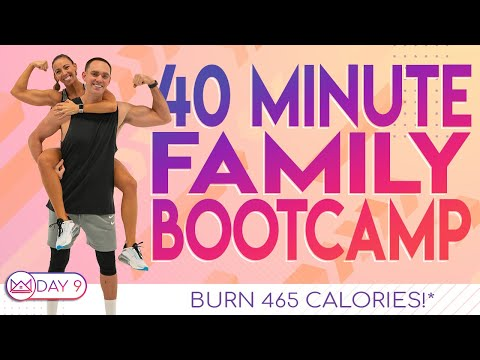 40 Minute Family Bootcamp Workout ��Burn 465 Calories!* ��At-Home Workout Challenge 2.0 | Day 9