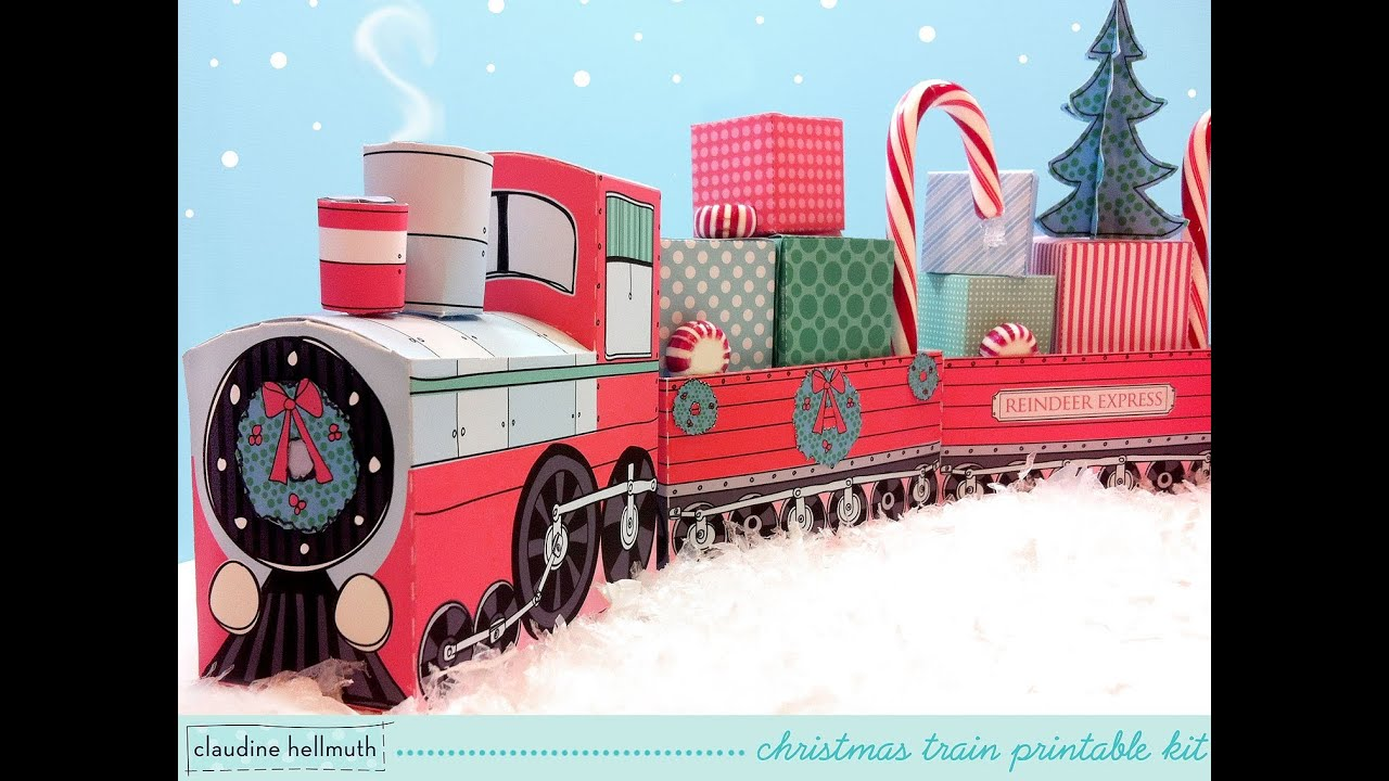 make a paper christmas train decoration