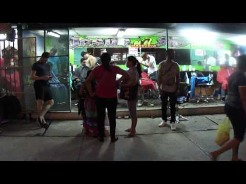 Panama City Barber Shop on the Street Salon fryzjerski na ulicy