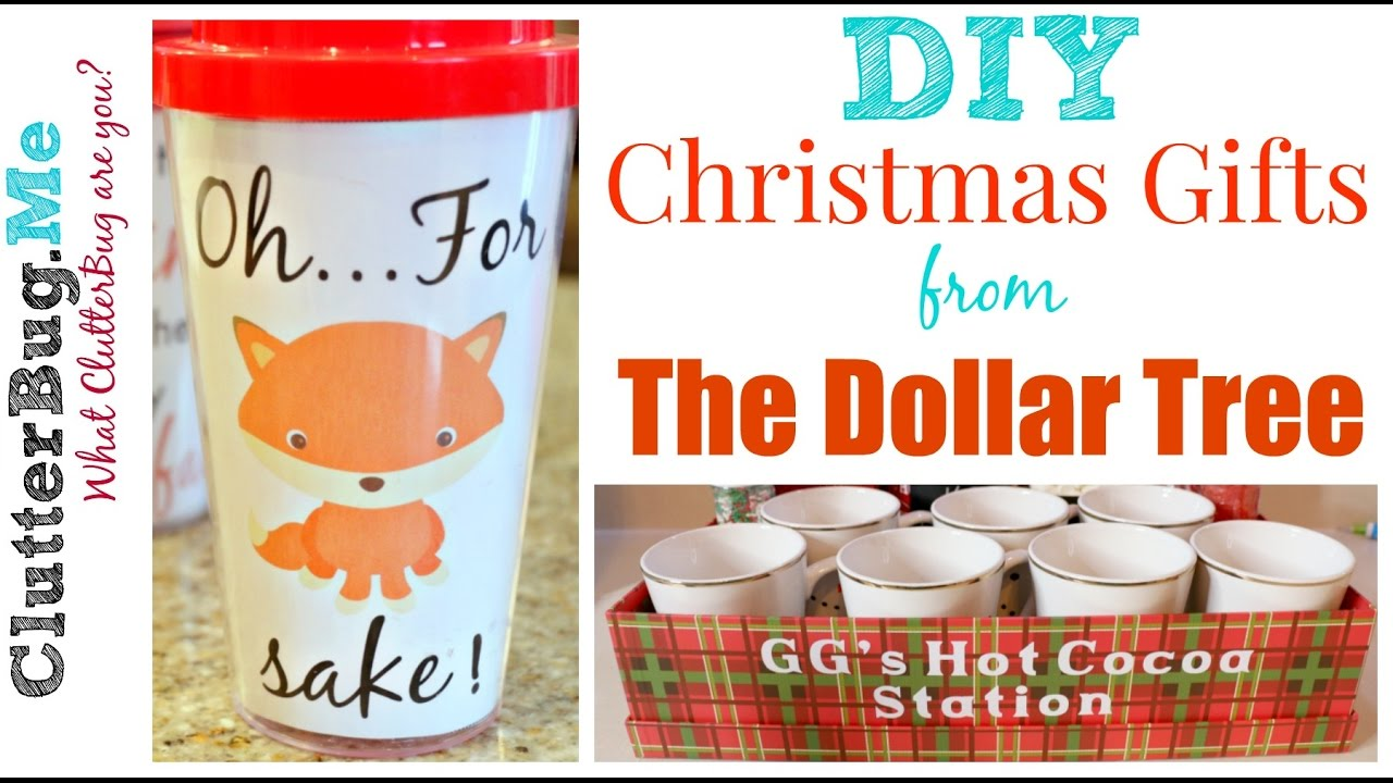 diy christmas gift ideas from the dollar tree youtube
